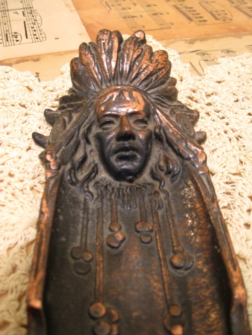 Early American Indian Head Small Tray