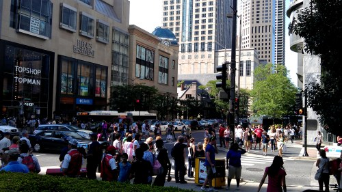 Michigan Ave Chicago Shopping