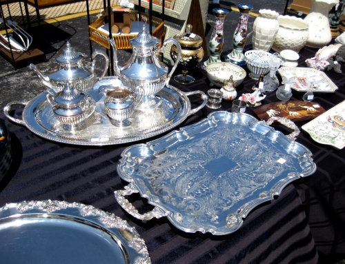 Vintage Decor - Silver Tea & Tray Sets