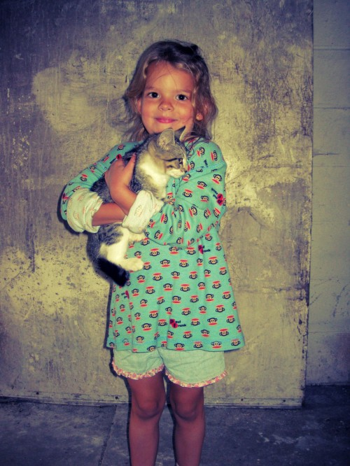 Adelyn & Kitten, Summer 2012