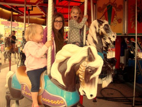 Carosel Ride at the County Fair with my Nieces