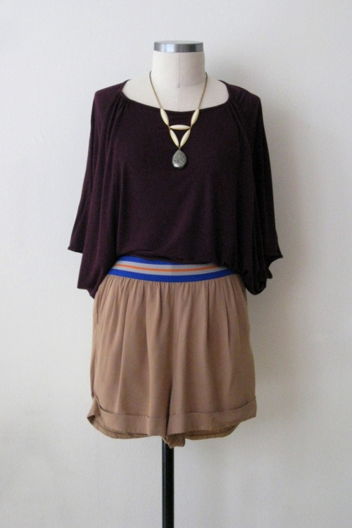 Jack by BB Dakota w Billowy Burgundy Top