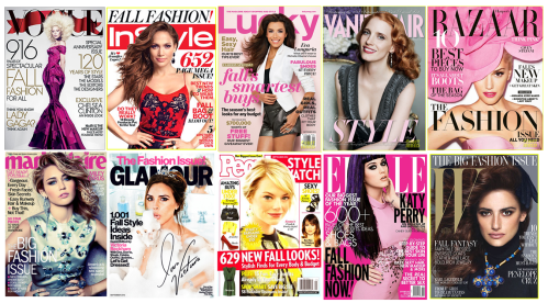 September 2012 Fashion Magazine Covers - Vogue, Lucky, W Magazine, People Stylewatch..