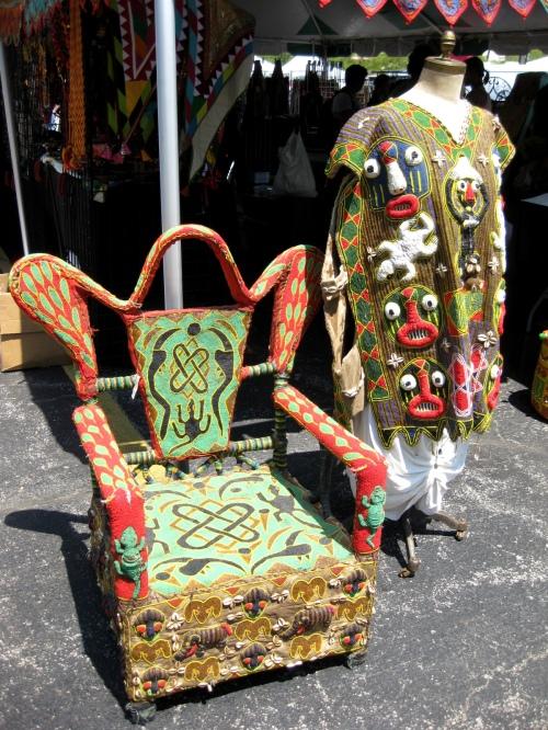 Yoruba Tribe - King Dress & Throne