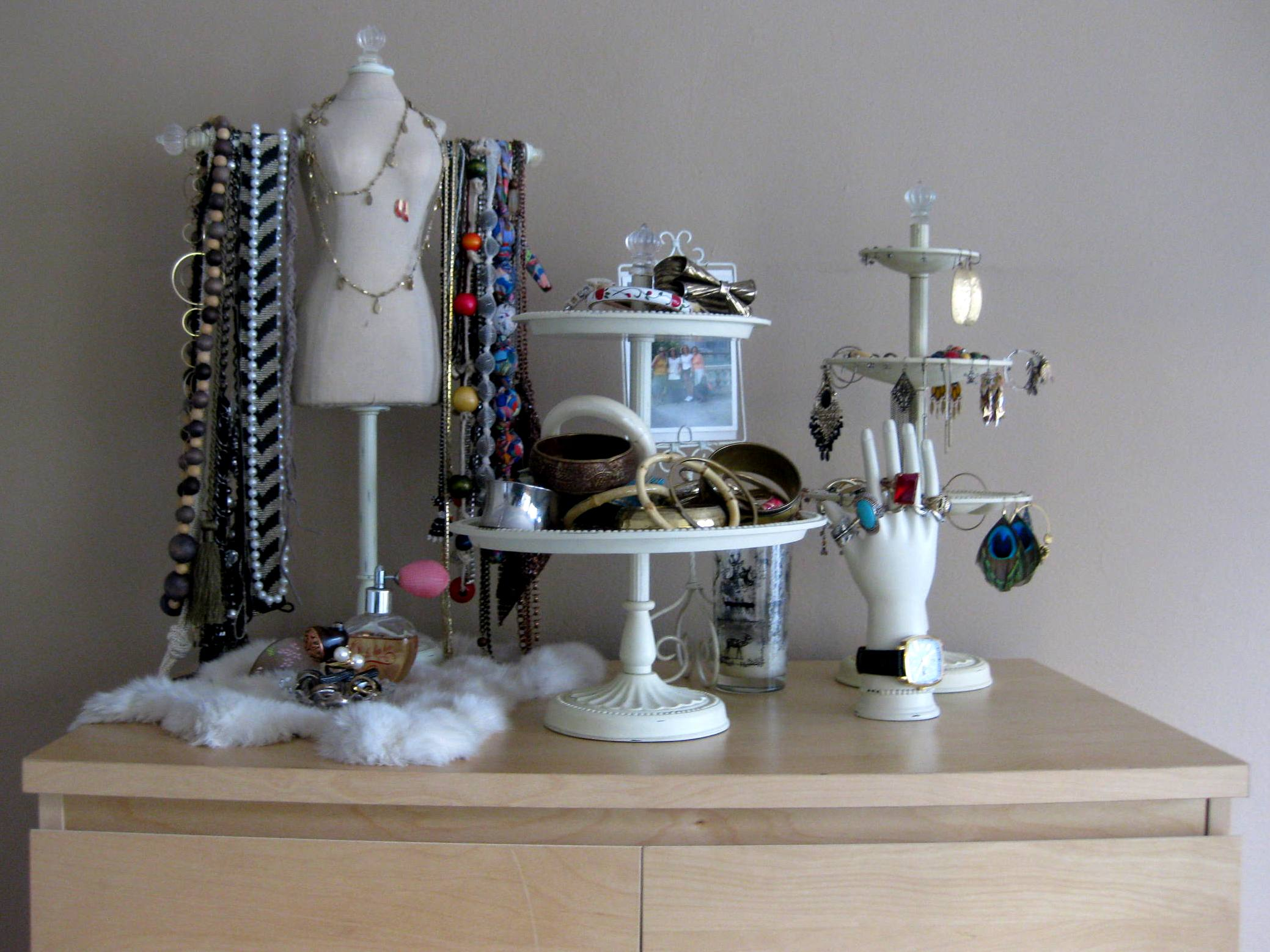 diy project my make shift jewelry display express thru