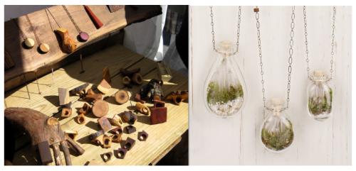 Wooden Rings & Terrarium Necklaces