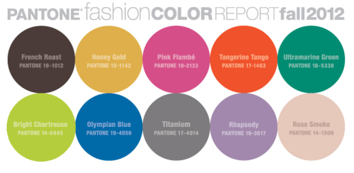 Pantone Color Report - Fall Fashion 2012