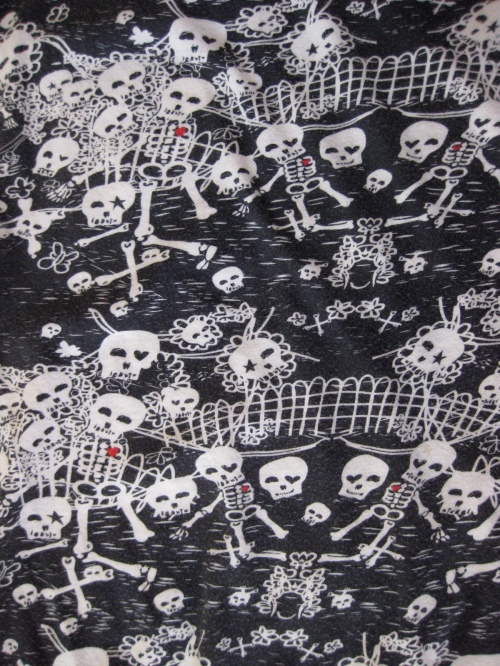 Urban Outfitters Skeletons with Hearts Cotton Top