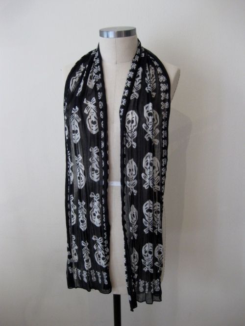 Urban Outfitters Skull-and-Crossbones Scarf