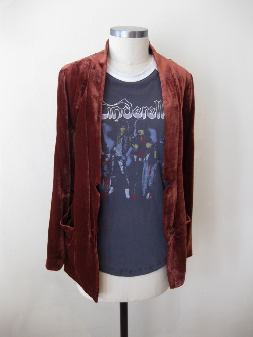 Cinderella Rock Band Tee & Free People Velvet Blazer