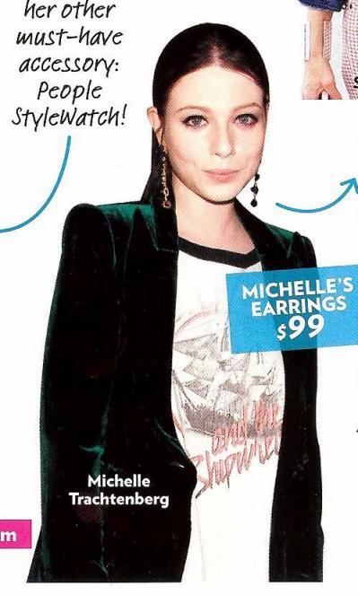 People StyleWatch: Michelle Trachtenberg Rock Band Tee with Velvet Blazer