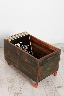 Urban Outfitters Vintage Wood Rolling Cart