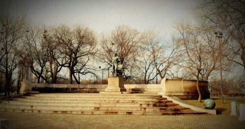 Abe Lincoln - Standing Man Statue, Lincoln Park, Chicago