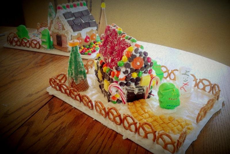 Gingerbread house express thru dress