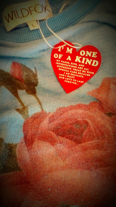Wildfox Couture One of a Kind Vintage Rose Sweatshirt
