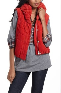 Anthropologie - Cord Puffer Vest