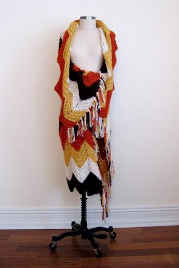 Missoni-inspired Zigzag Crochet Wrap