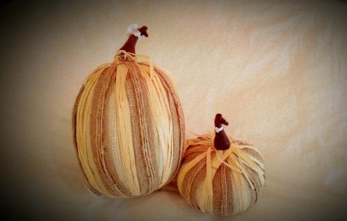 Pottery Barn Burlap Pumpkins
