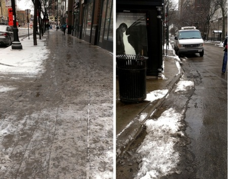 Slushy Chicago Sidewalks