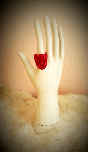 Red Dragon Bakelite Ring