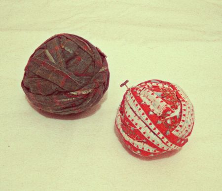 Vintage Fabric Balls