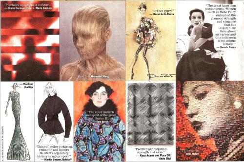 Designers' Inspiration for Fall/Winter 2013 Collection, WWD