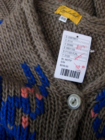Anthropologie Lucia Delphinium Shawl Sweater on Sale