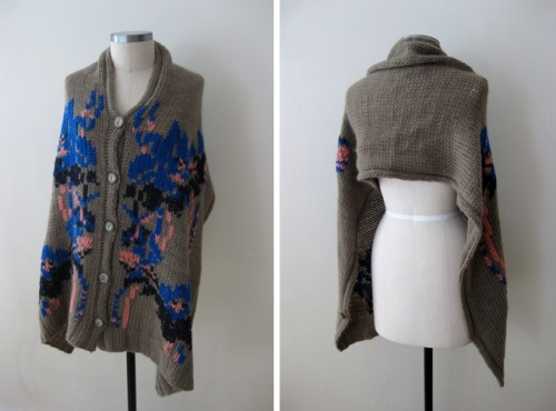 Anthropologie Shawl Sweater Styled 9 Different Ways