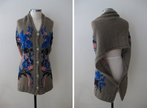 Anthropologie Lucia Delphinium Shawl Sweater