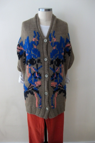Anthropologie Shawl Sweater & Coral Cords