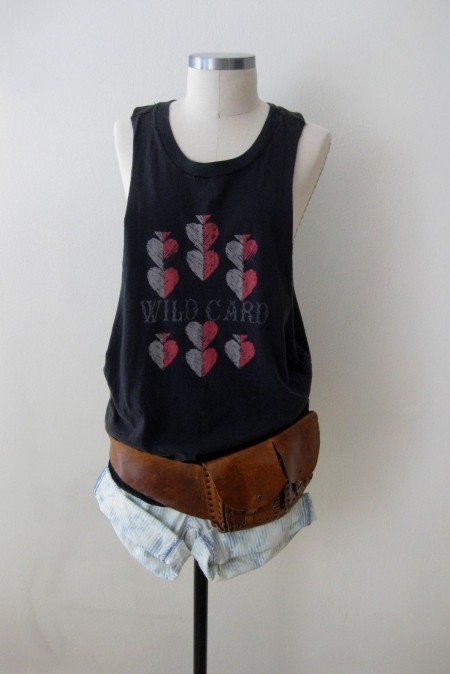 "Free People ""Wildcard"" Tank Top & Denim Cut-Offs"