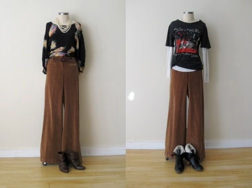 Anthropologie Gold High-Waisted, Wide-Leg Cords