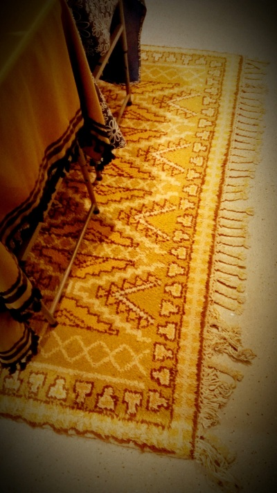 Gold Patterned Area Rug