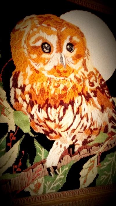 Vintage Owl Embroidery