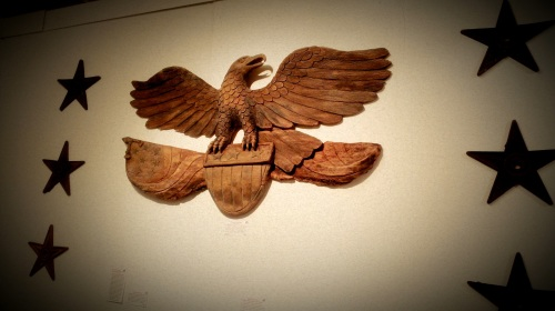 International Antiques Fair - Wood Carved Eagle