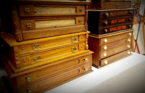 Old Wooden Jewelry Boxes (6)
