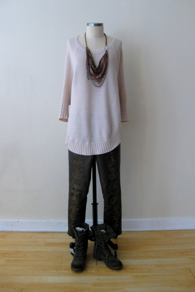 Fall Favorite: Anthro Scalloped Sweater & Free People Embroidered Bottoms