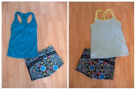 Mix & Match Combo - Mosaic Motif Shorts Yoga Outfits