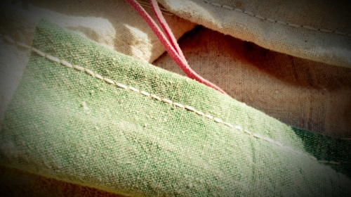 DIY Yoga Mat Sac: Step 2 - Hand-stitch Seam