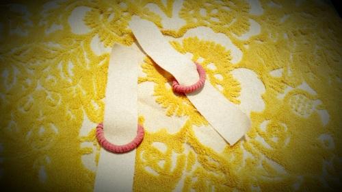 DIY Yoga Mat Sac: Step 5 - Cut Fabric Tabs