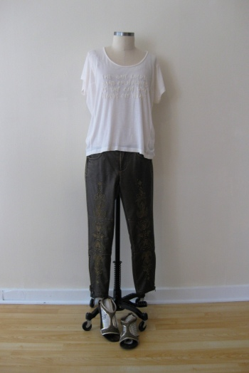 All-Saints Embroidered Top & Free People Embroidered Pants