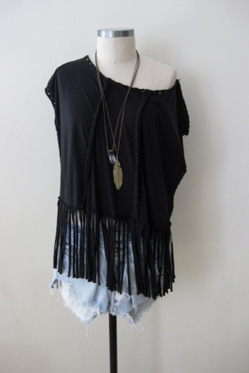 All-Saints Twisted Fringe Top & Cut-Offs