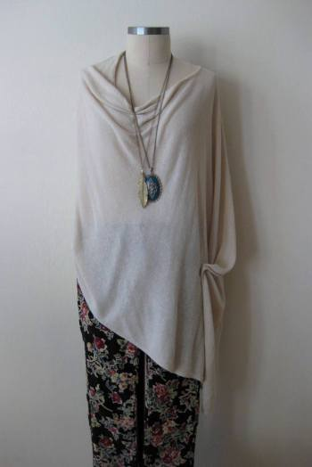 Ivory Knit Poncho & FP Floral Print Cords (2)