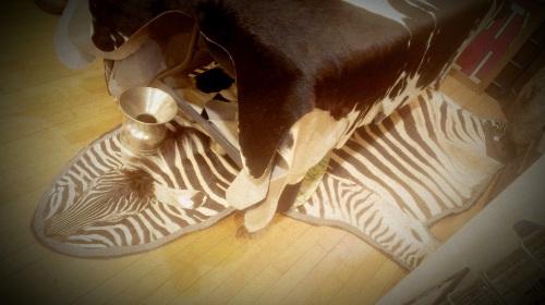 Skinned Zebra Rug (1)