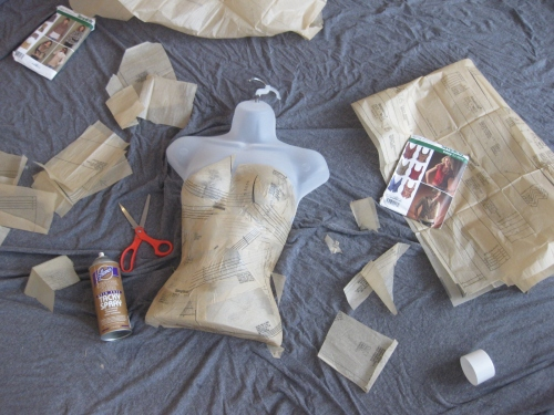 DIY Paper Mache Mannequin Step 3